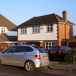 Lancaster Road, St Albans, Hertfordshire Existing Two Storey Extension