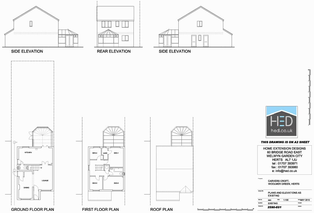 Home extension designs two storey extensions archives for Home extension design welwyn garden city