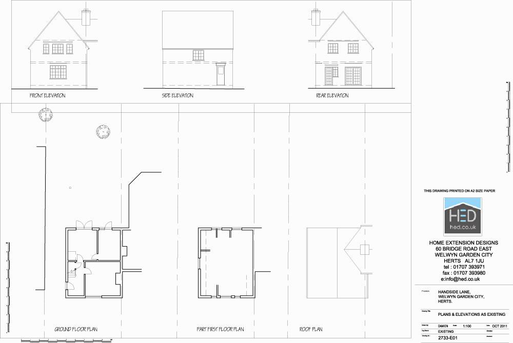 Handside Lane Welwyn Garden City Hertfordshire Single Storey Extension - Existing