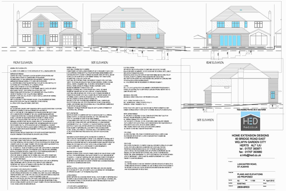 Lancaster Road, St Albans, Hertfordshire - Building Regulations Drawings