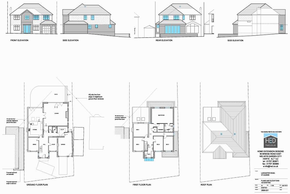 Lancaster Road, St Albans, Hertfordshire - Proposed Plan Drawings