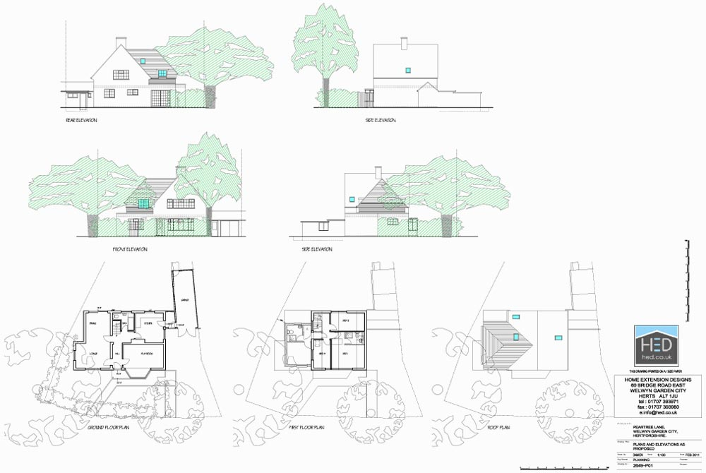 Home extension designs two storey residential extensions for Home extension design welwyn garden city