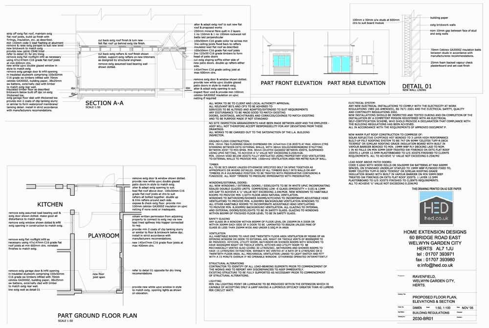Ravenfield Road, Welwyn Garden City, Hertfordshire Garage Conversion - Proposed Drawings